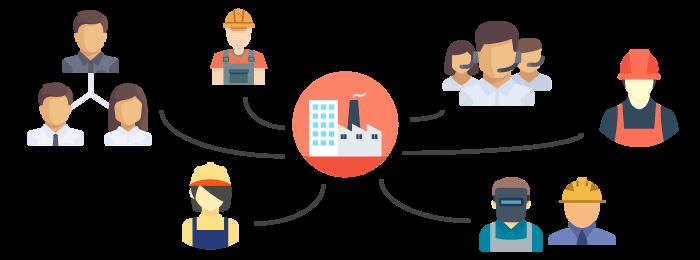 Une usine collaborative pour un objectif commun