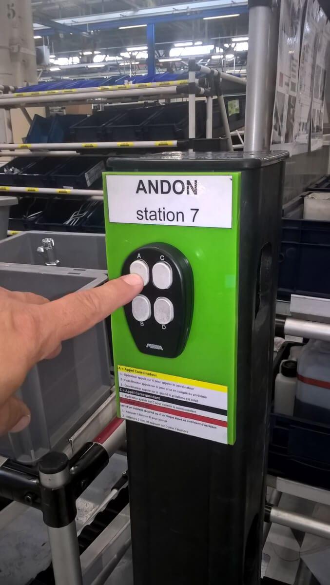 Les boîtiers andon de PingFlow dans l'usine CLAAS