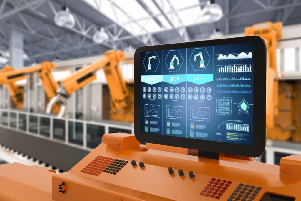 écran d'affichage dynamique dans une usine
